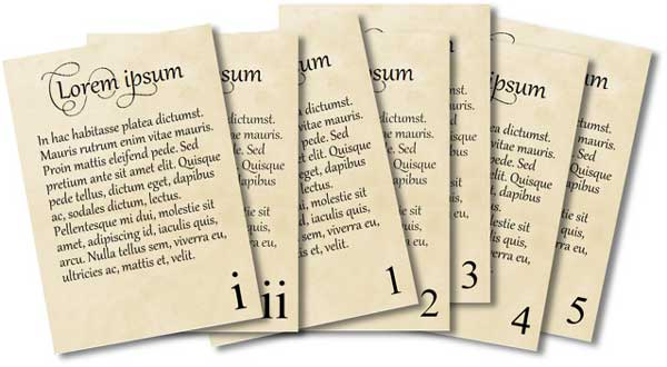صفحه بندی و شماره گذاری صفحات کتاب