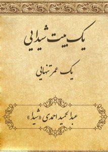"""چاپ کتاب شعر یک بیت شیدایی""""یک عمر تنهایی"""""""